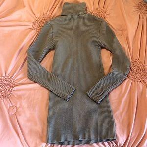 Vintage style grey turtleneck sweater size XL